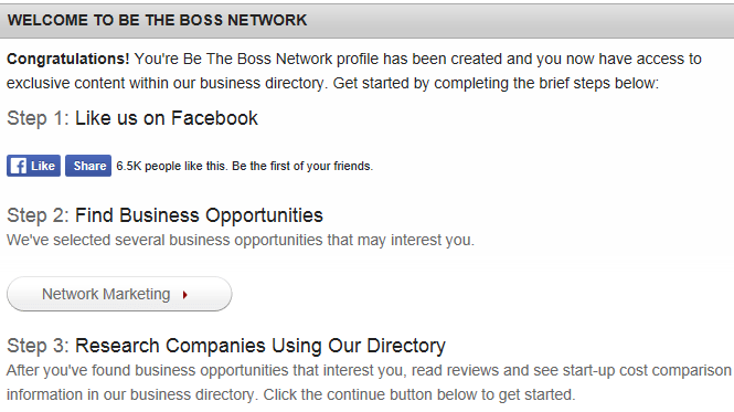 What is BE THE BOSS Network