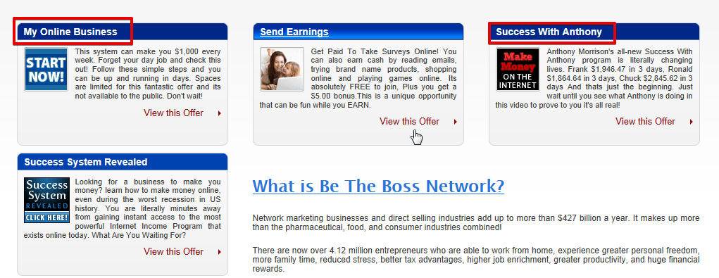 What is Be the Boss Network?