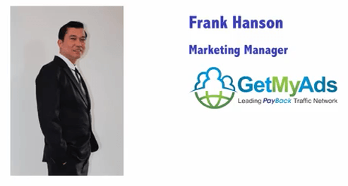 Ceo of Get My Ads, Frank Hanson