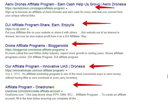 How to find affiliate programs for drones