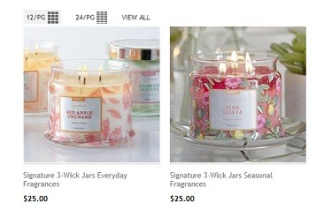 Partylite Candle products