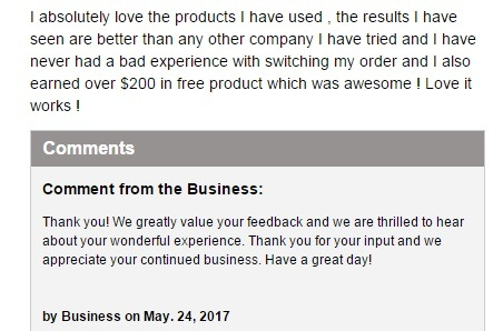 It Works positive review