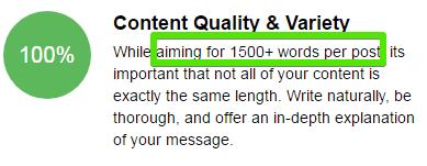 Volume of content