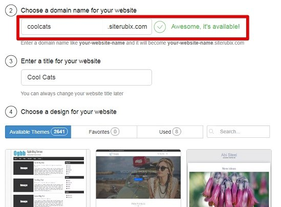 How to get your free domain on sitebuilder