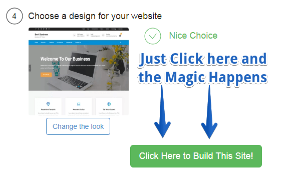 How simple it is to choose a website theme