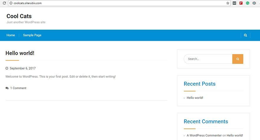 My Free website with Sitebuilder