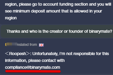 Who is the founder of Binarymate?
