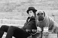 Sylvester Stallone and His Dog