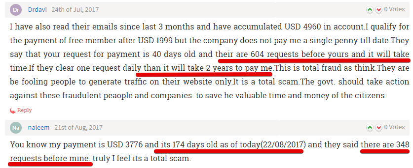 365dayclub scam and customer complaints