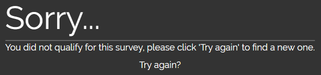 Offernation does not give you qualifying surveys all the time