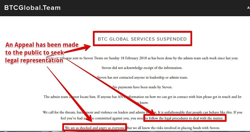 Why BTC GLOBAL IS a scam