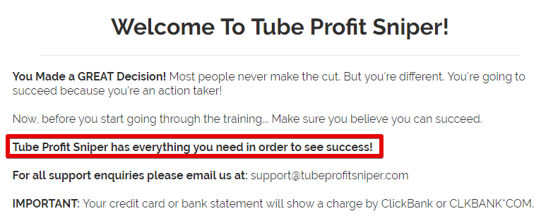 Tube profit sniper is a scam