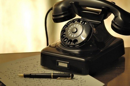 We used old-fashioned telephones