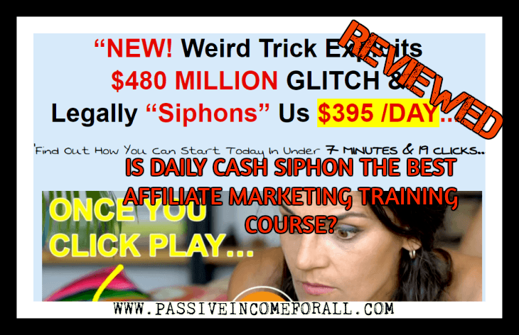 Daily Cash Siphon Review. is Daily Cash siphon a scam