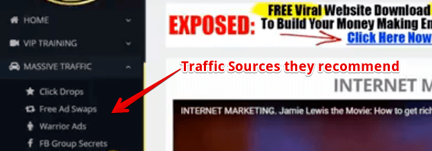 Income League review the traffic sources they recommend you use