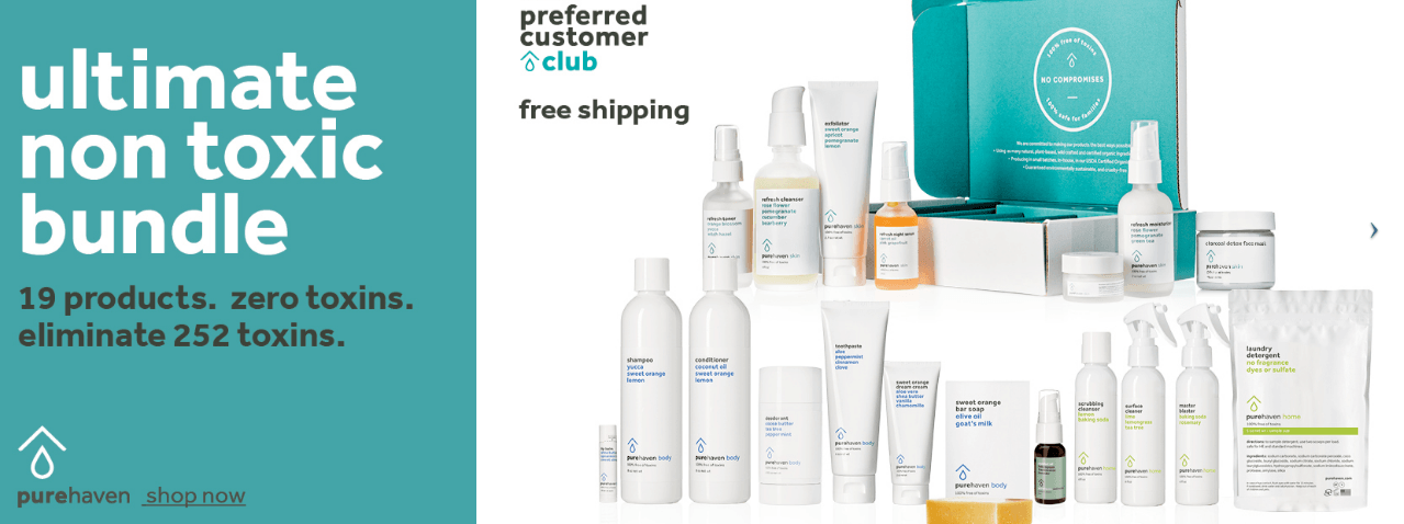 Pure haven essentials products