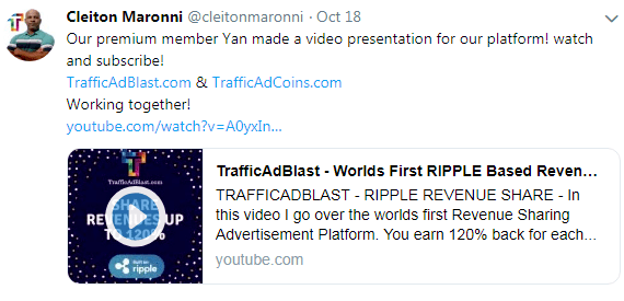 Cleiton Maronni is the founder of TrafficAdcoins and Traffic Ad blast