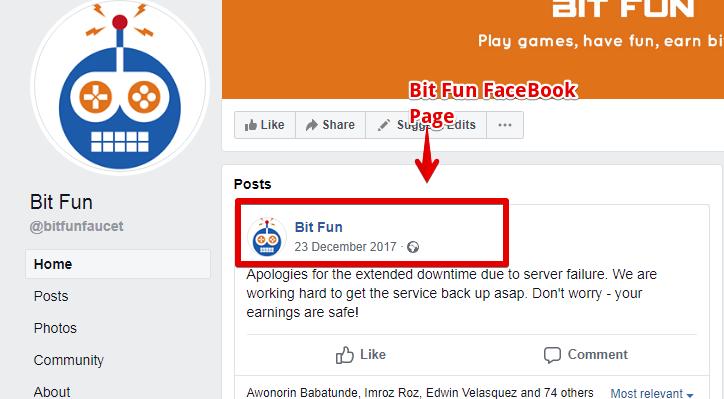 Bit Fun Facebook page