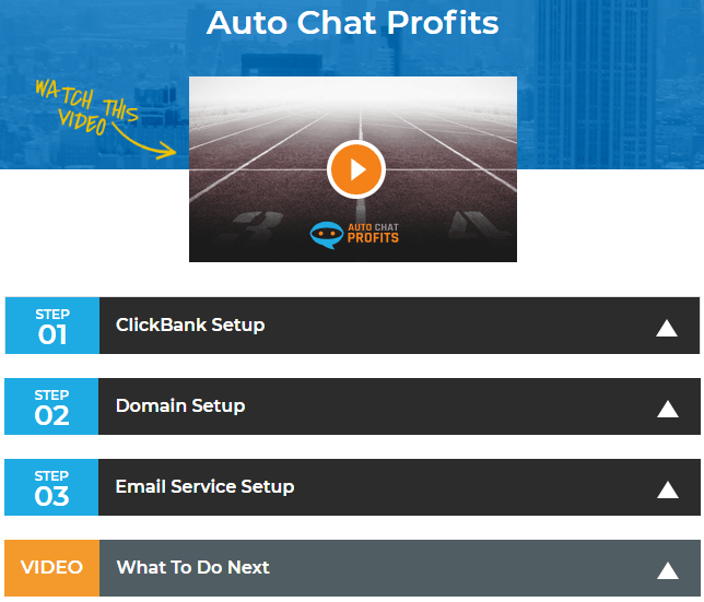 What is the Auto Chat Profits members area all about