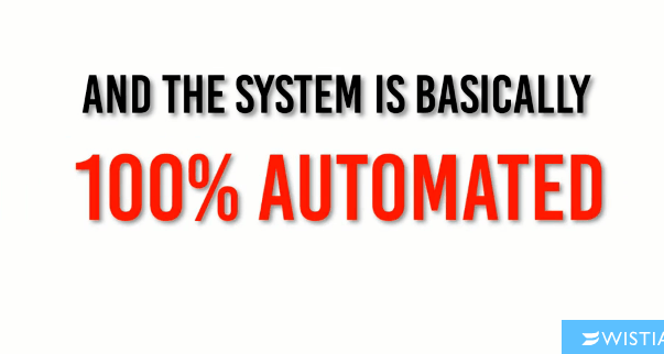 The million dollar replicator business states that it is automated