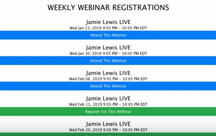 The wealthy agency weekly webinars