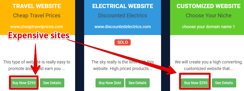 Giant Earner scam the websites to purchase are expensive