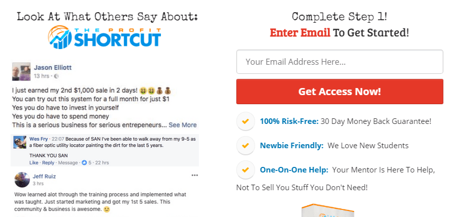 Super affiliate secrets x and profit shortcut sign up page are exactly the same