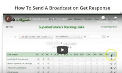 7 Minute daily profits review signing up with get Response