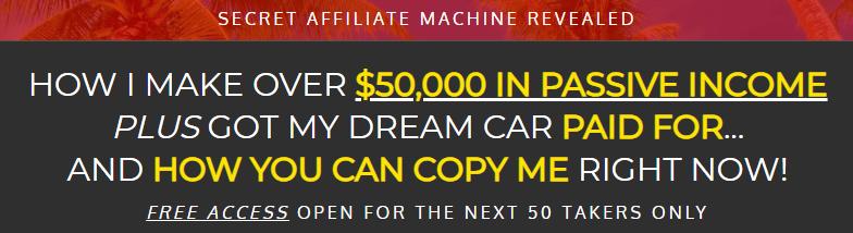 Secret affiliate machine marketing is misleading