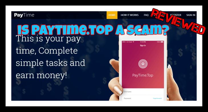Is Paytime.top a scam featured image