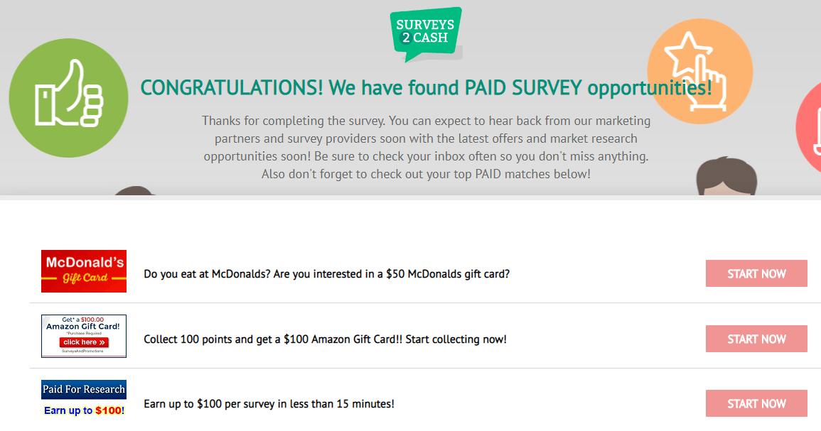 Surveys2cash members area