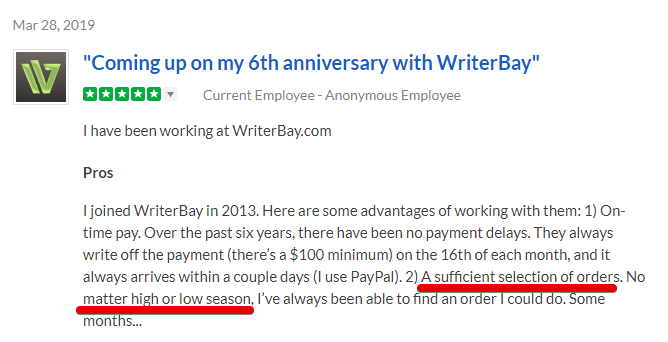Writerbay review can you really make good money woth writerbay