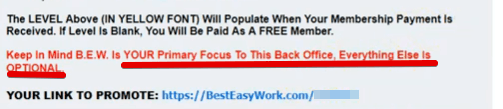 IS BEST EASY WORK A SCAM YES, tehy only focus on recruiting