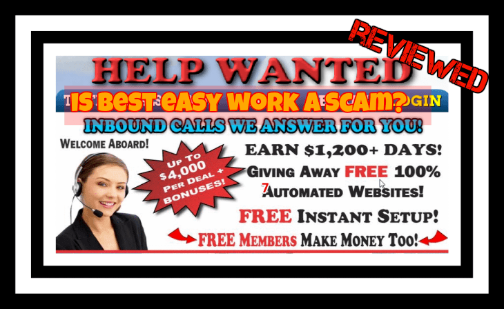 is best easy work a scam? featured image