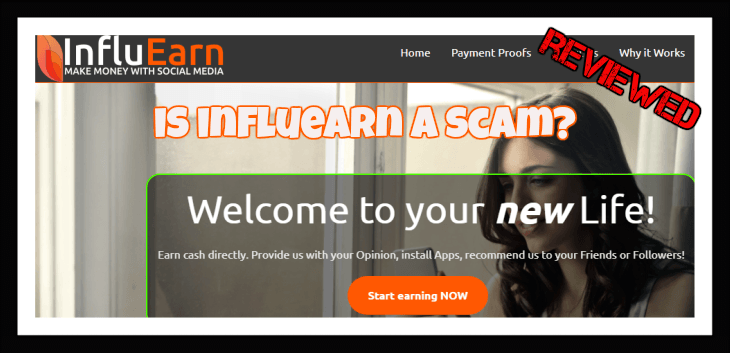 Influearn review Influearn is a scam website