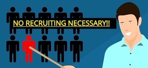 No recruiting when you are doing an online business