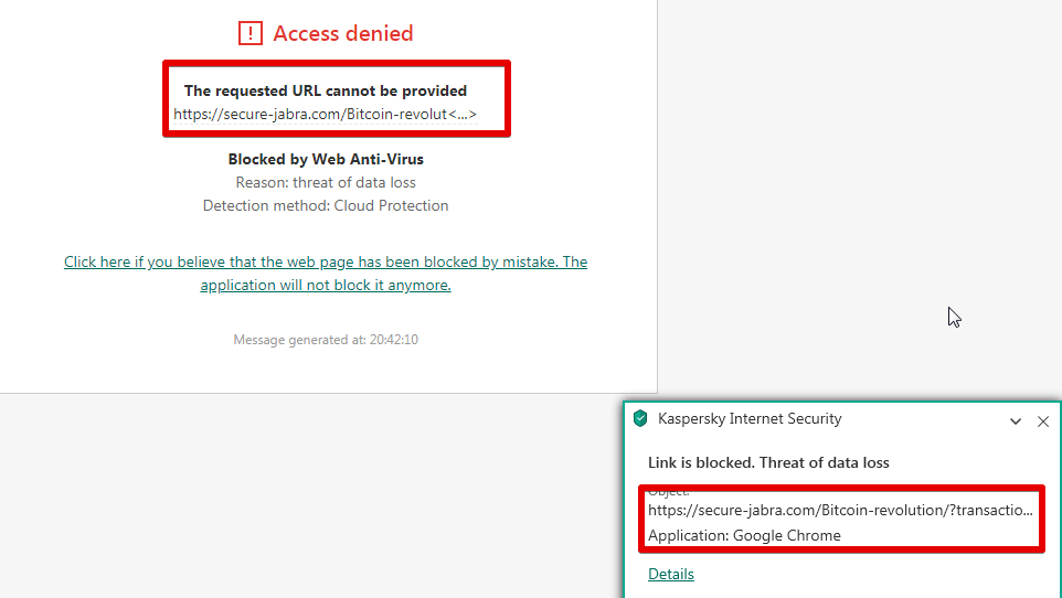 Getpaidhome.com is flagged by my antivirus software