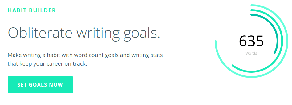 writers. work habit builder tool