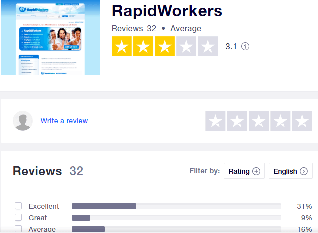 rapidworkers trustpilot review