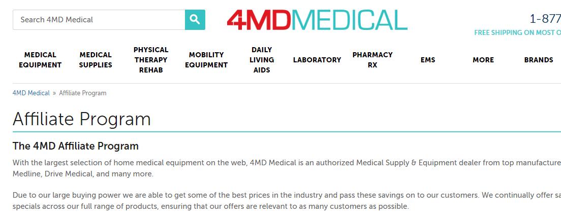 4md medical affiliate program