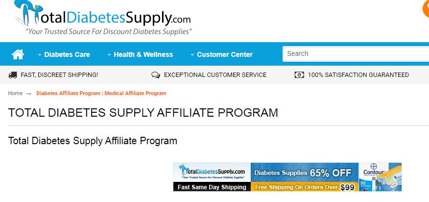 Total diabetes supply affiliate progrm