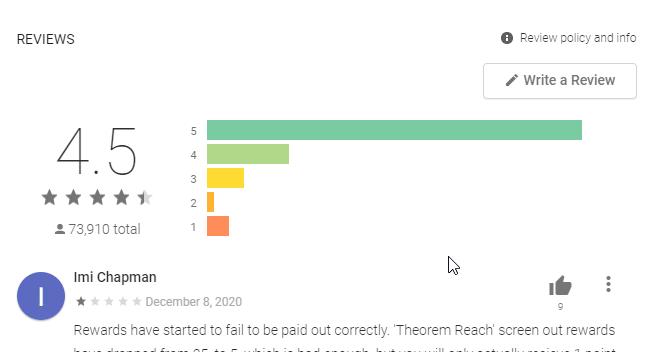 Cashkarma rewards google play store reviews and ratings