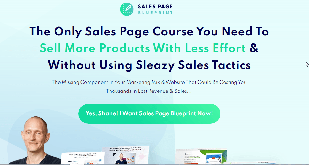 Sales page blueprint review what does the actual sales page look like