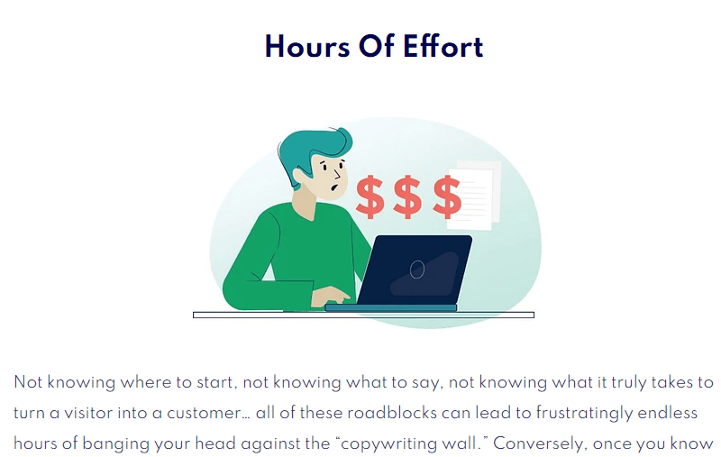 Sales Page Blueprint saves you from wasting your precious time